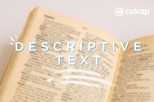 text descriptive