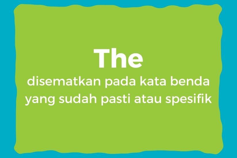 Penggunaan the